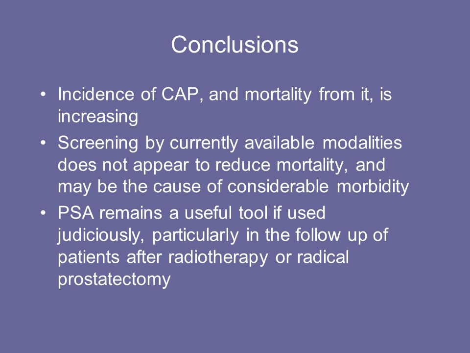 Conclusions Incidence of CAP, and mortality from it, is increasing