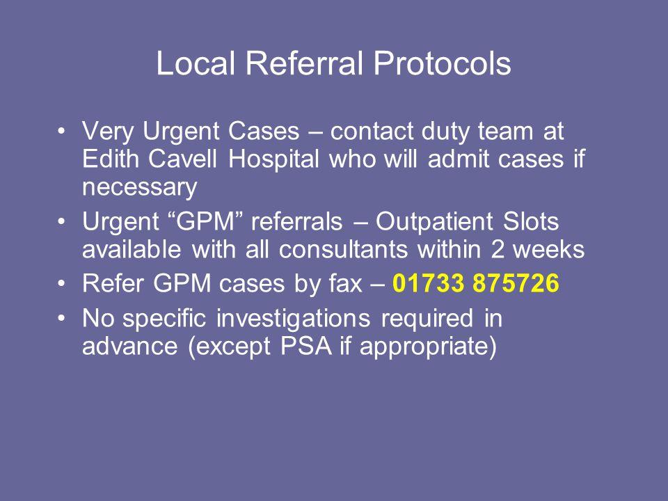 Local Referral Protocols