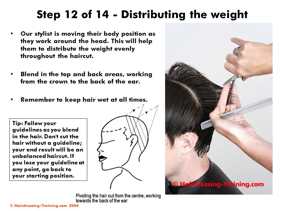 Step 12 of 14 - Distributing the weight