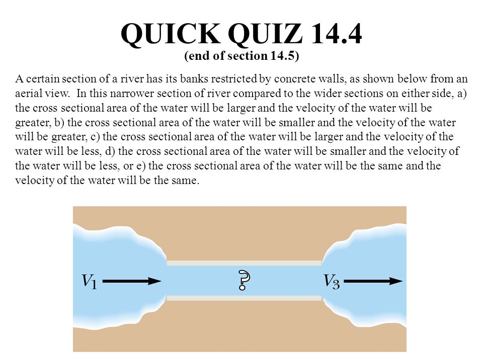 QUICK QUIZ 14.4 (end of section 14.5)