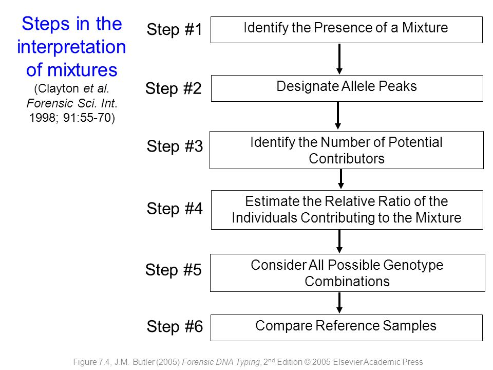 Steps in the interpretation of mixtures