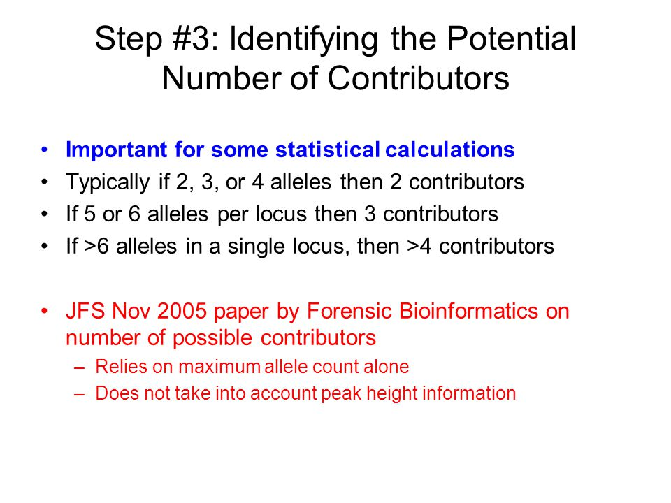 Step #3: Identifying the Potential Number of Contributors