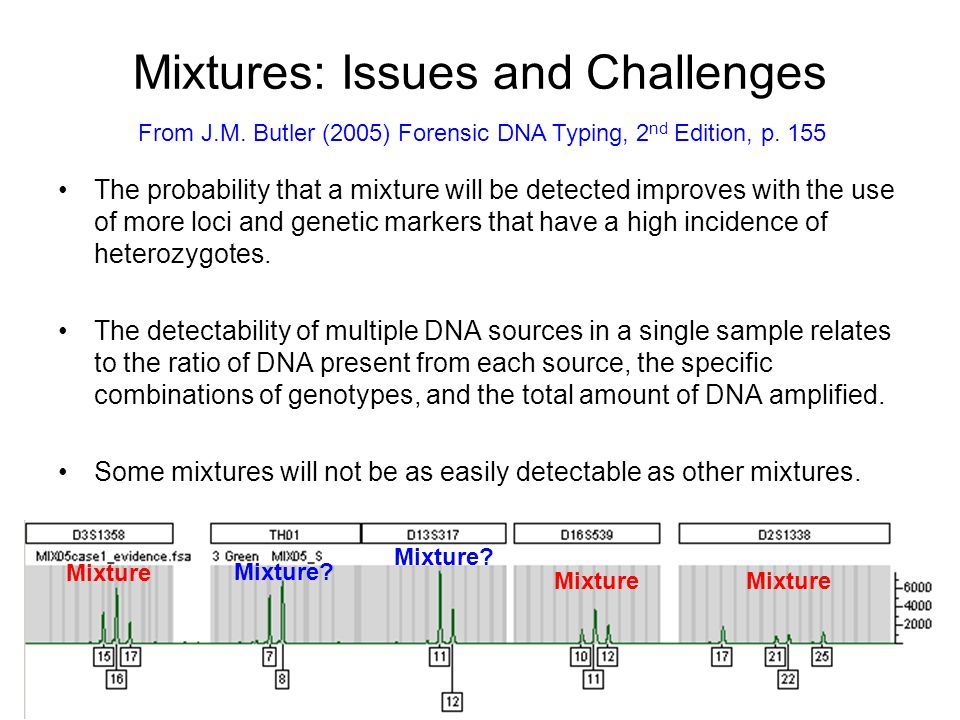 Mixtures: Issues and Challenges