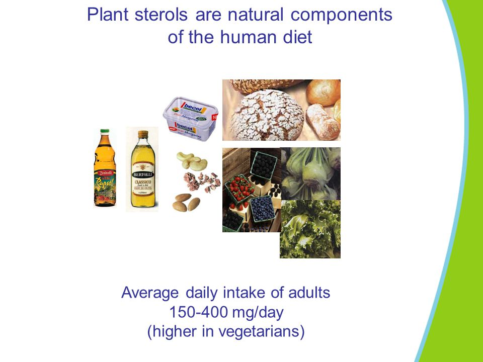 Plant sterols are natural components of the human diet