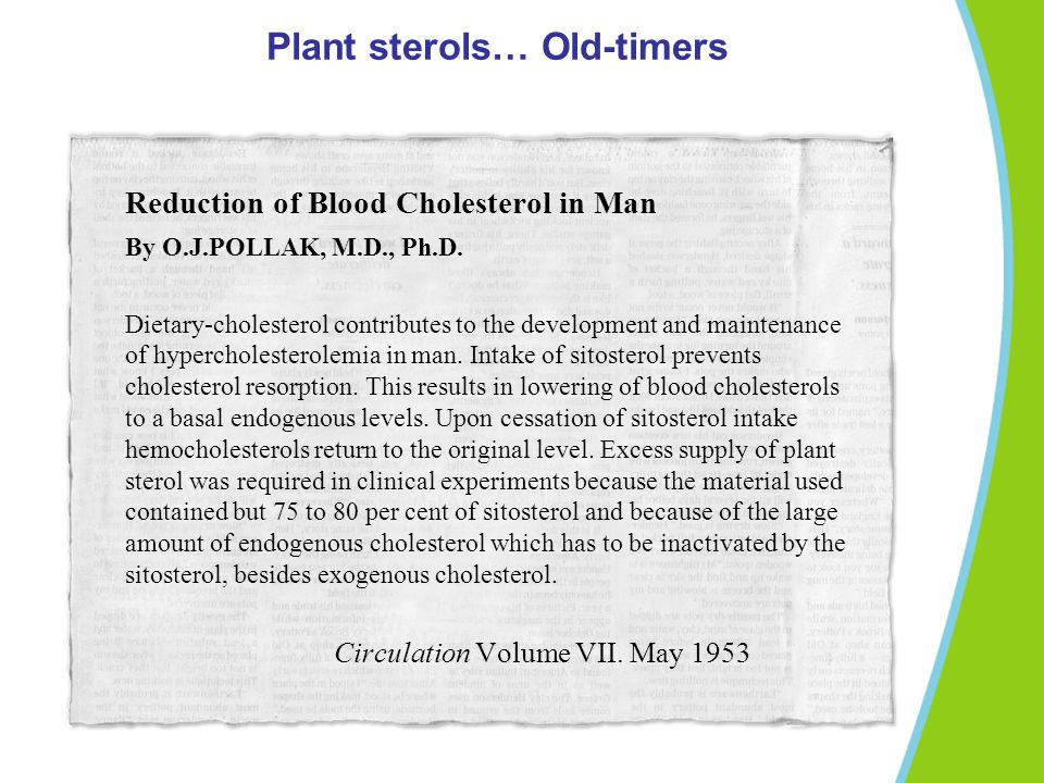 Plant sterols… Old-timers