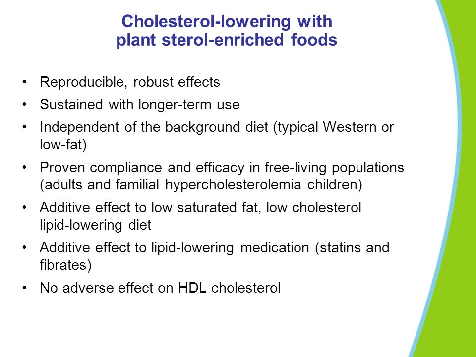 Cholesterol-lowering with plant sterol-enriched foods