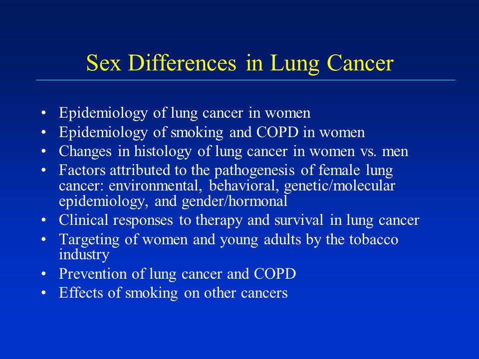 Sex Differences in Lung Cancer