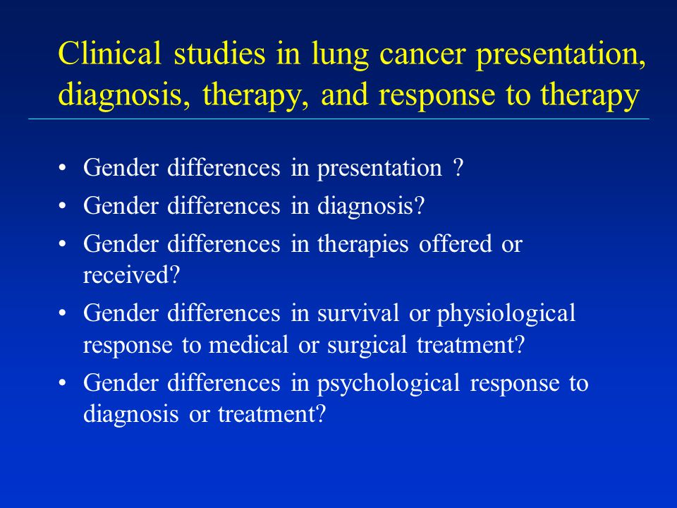 Clinical studies in lung cancer presentation, diagnosis, therapy, and response to therapy