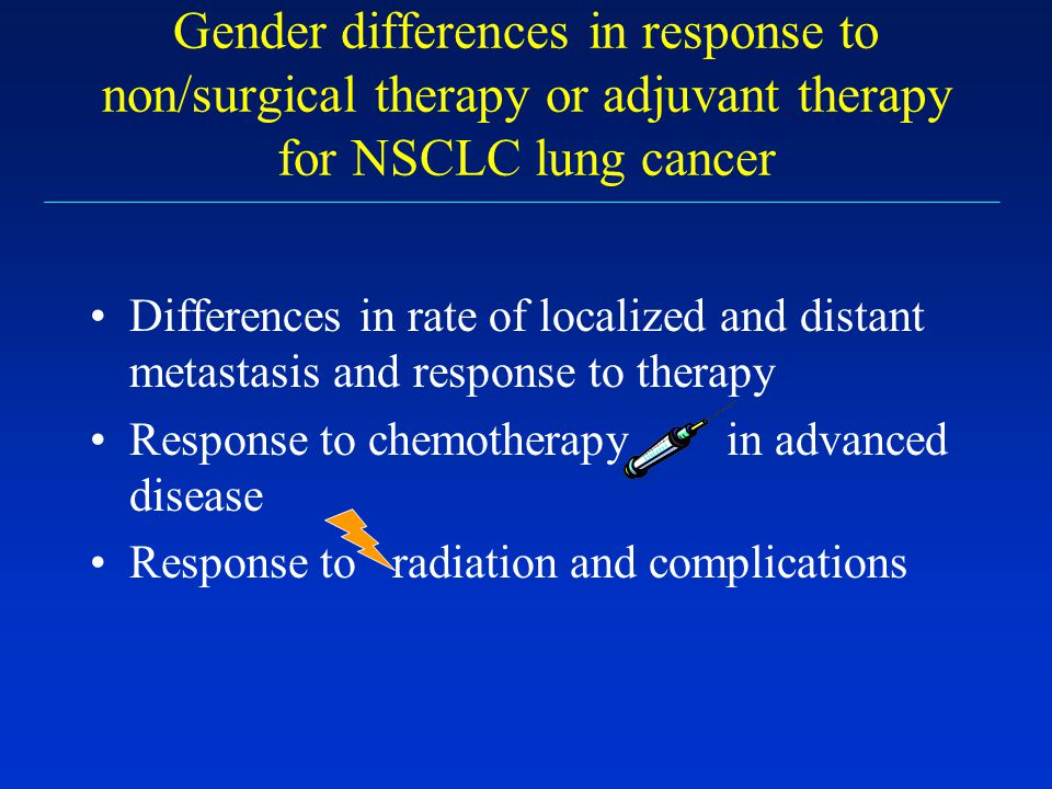 Gender differences in response to non/surgical therapy or adjuvant therapy for NSCLC lung cancer
