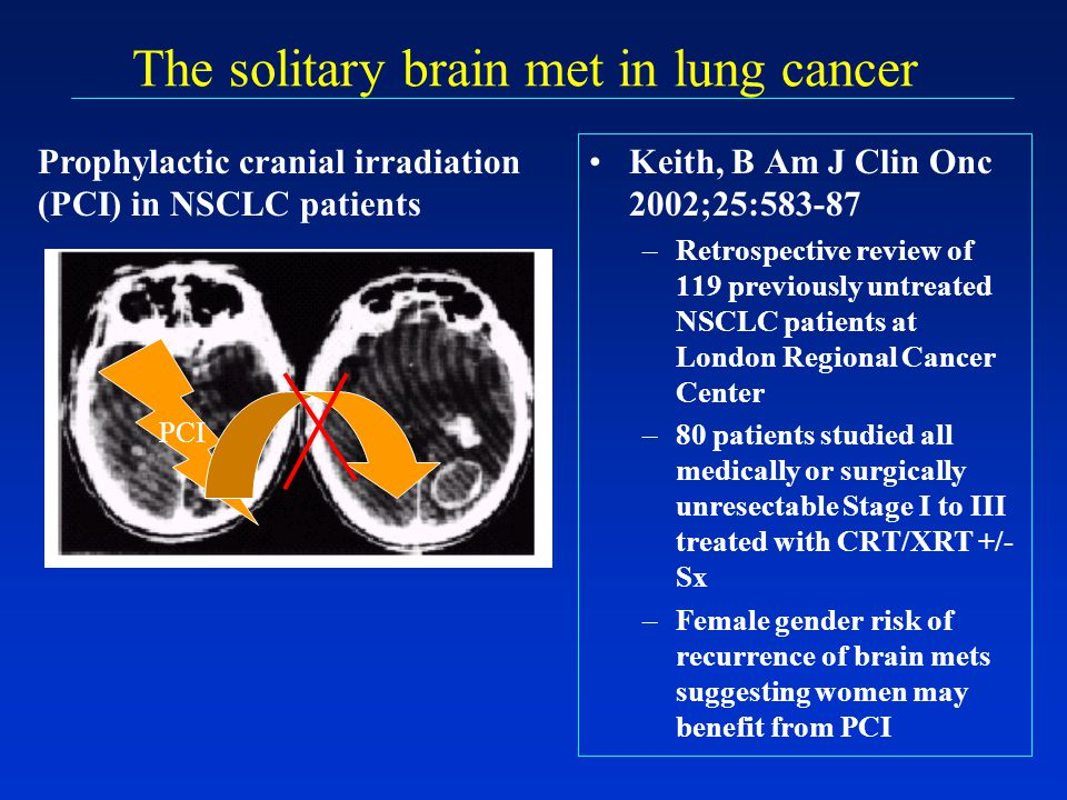 The solitary brain met in lung cancer