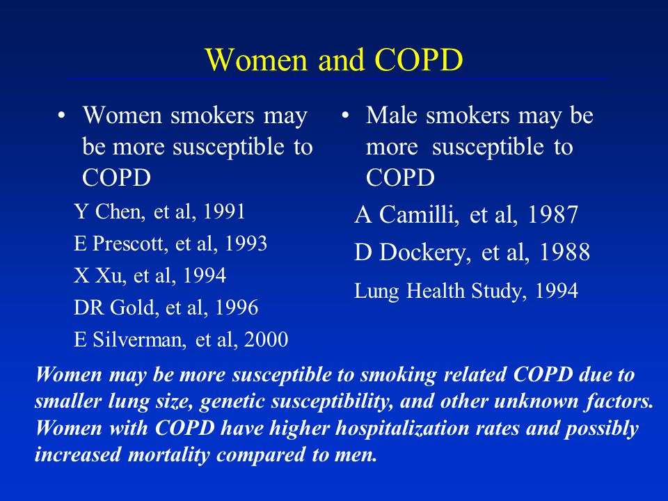 Women and COPD Women smokers may be more susceptible to COPD