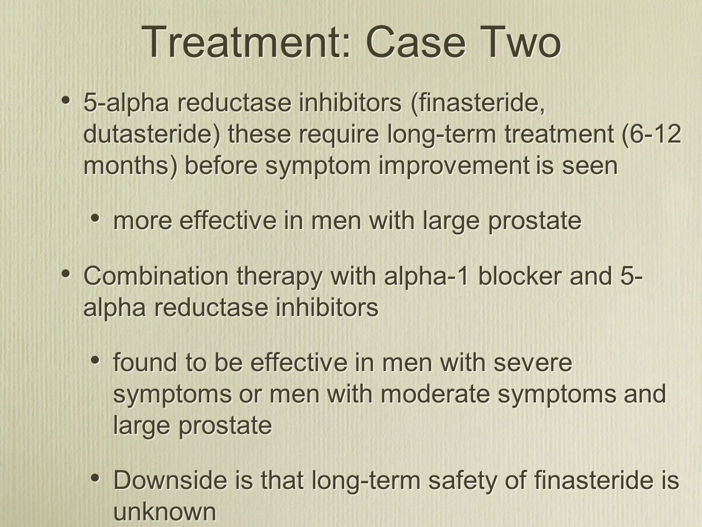 Treatment: Case Two