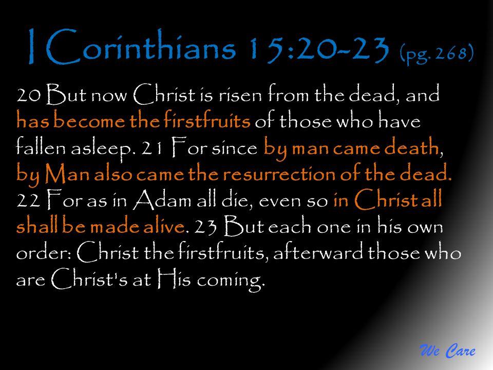 I Corinthians 15:20-23 (pg. 268)