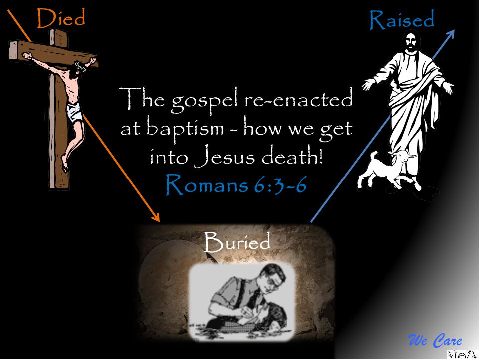 The gospel re-enacted at baptism - how we get into Jesus death!