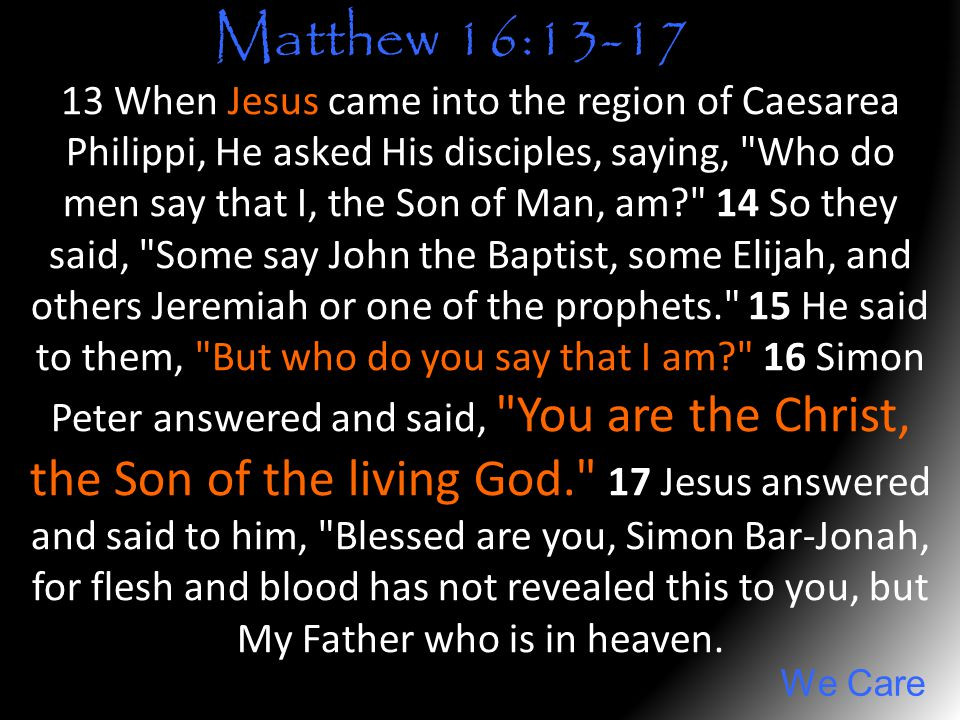 Matthew 16:13-17