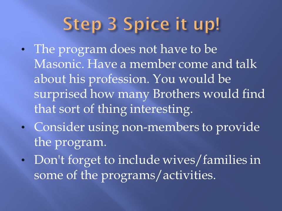 Step 3 Spice it up!