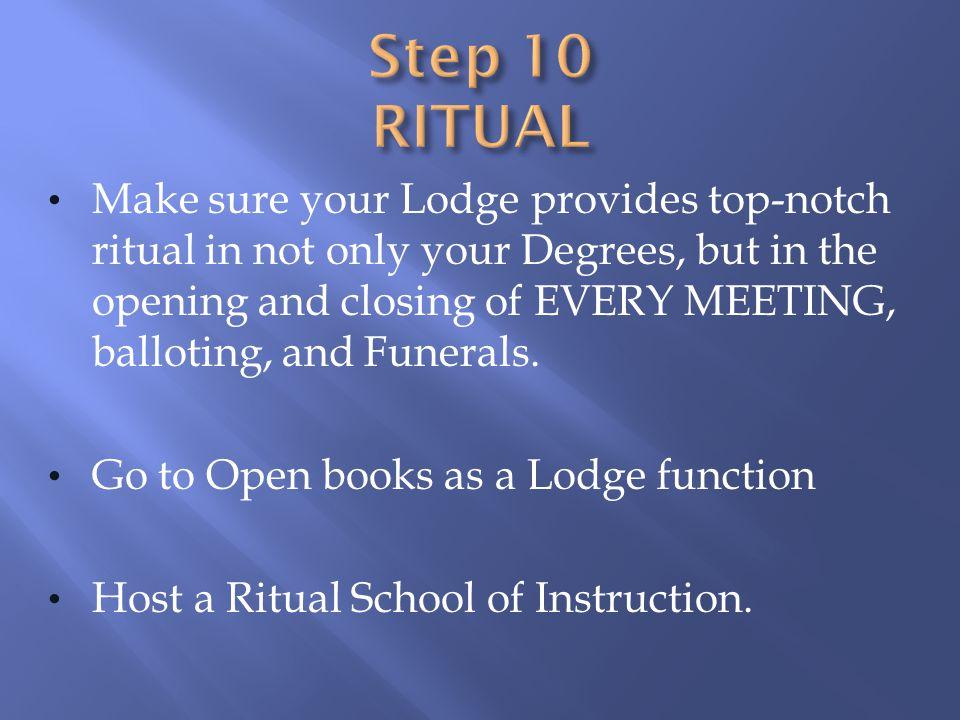 Step 10 RITUAL
