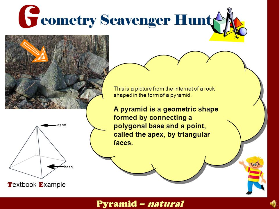 This is a picture from the internet of a rock shaped in the form of a pyramid.