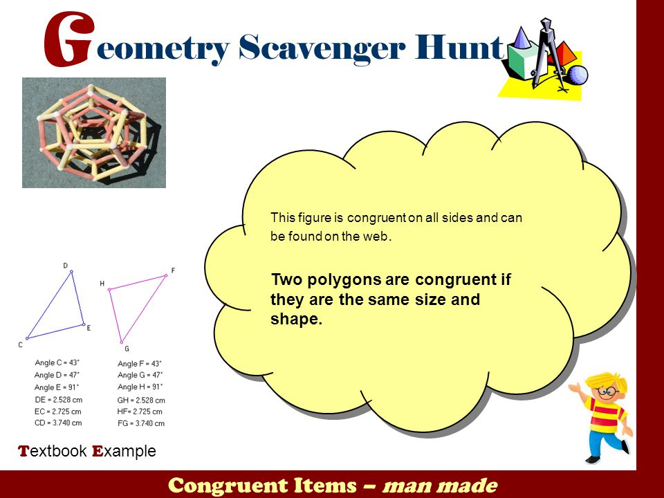 Congruent Items – man made