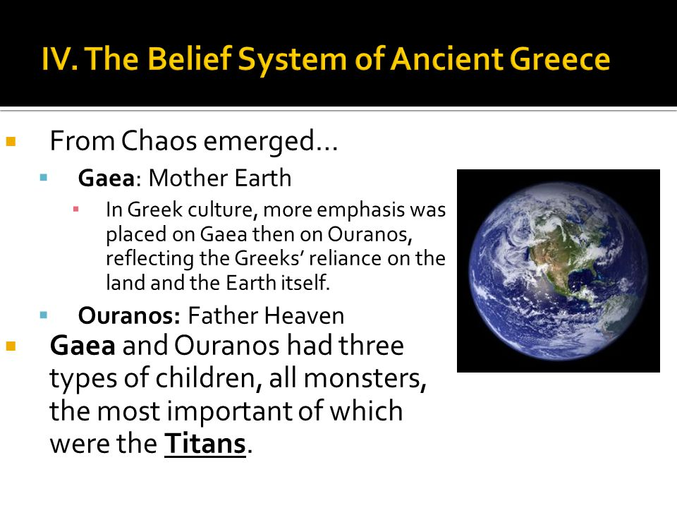 IV. The Belief System of Ancient Greece