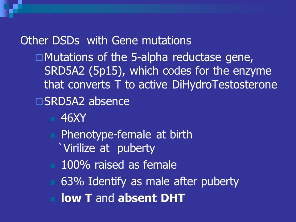 Other DSDs with Gene mutations