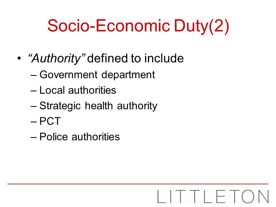 Socio-Economic Duty(2)