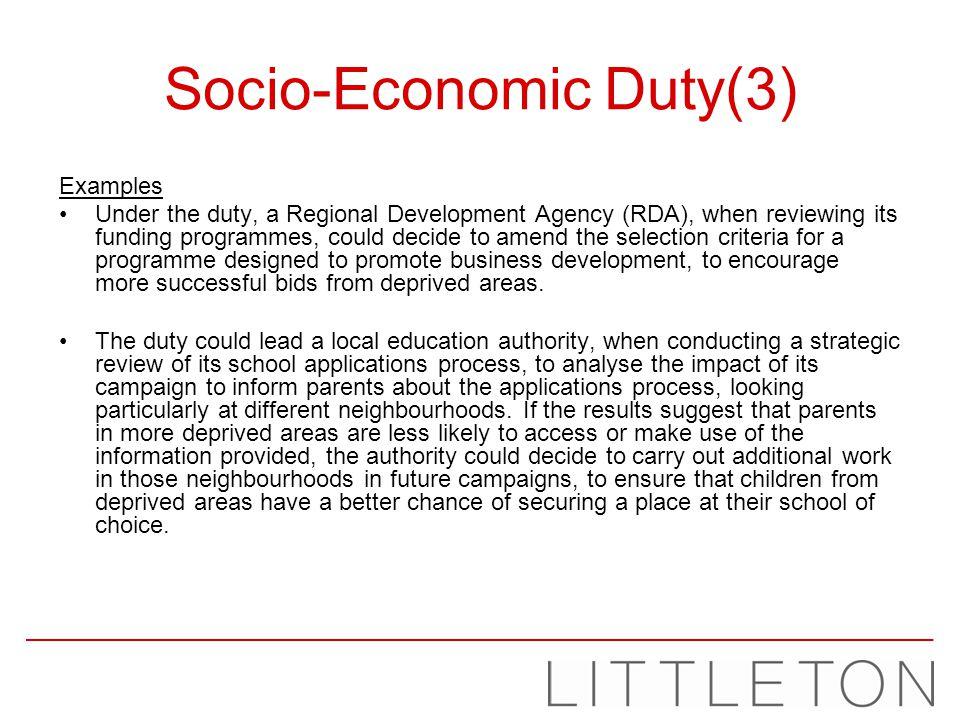 Socio-Economic Duty(3)