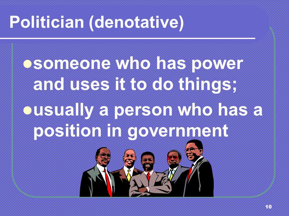 Politician (denotative)