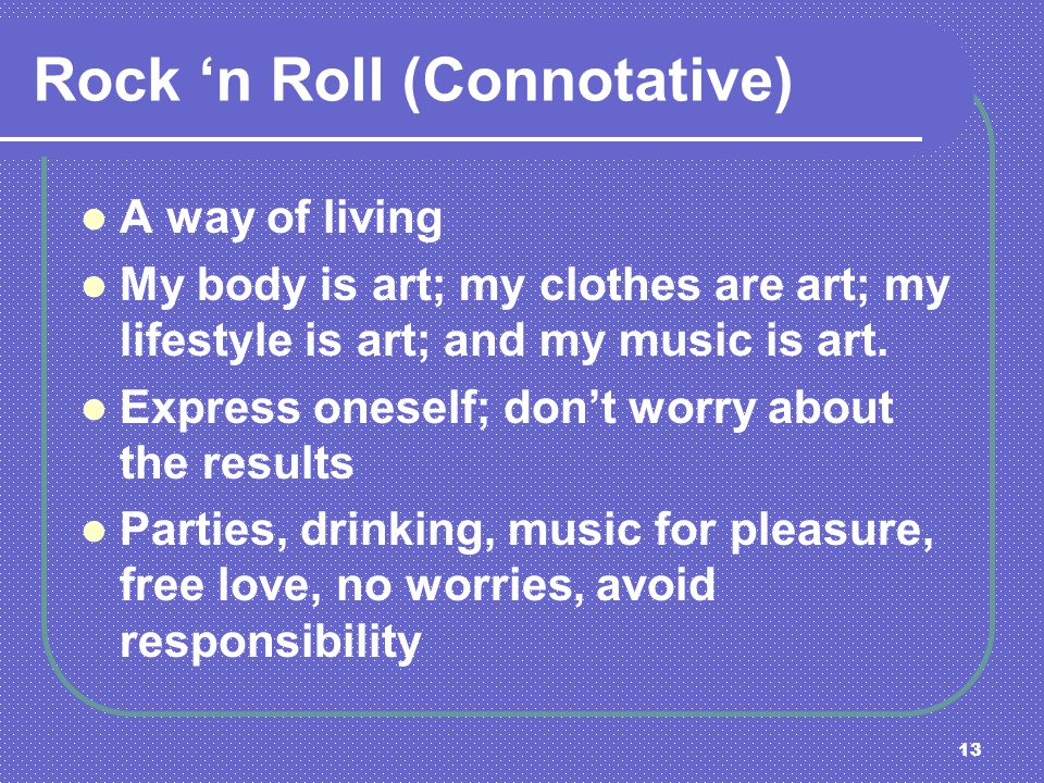 Rock 'n Roll (Connotative)