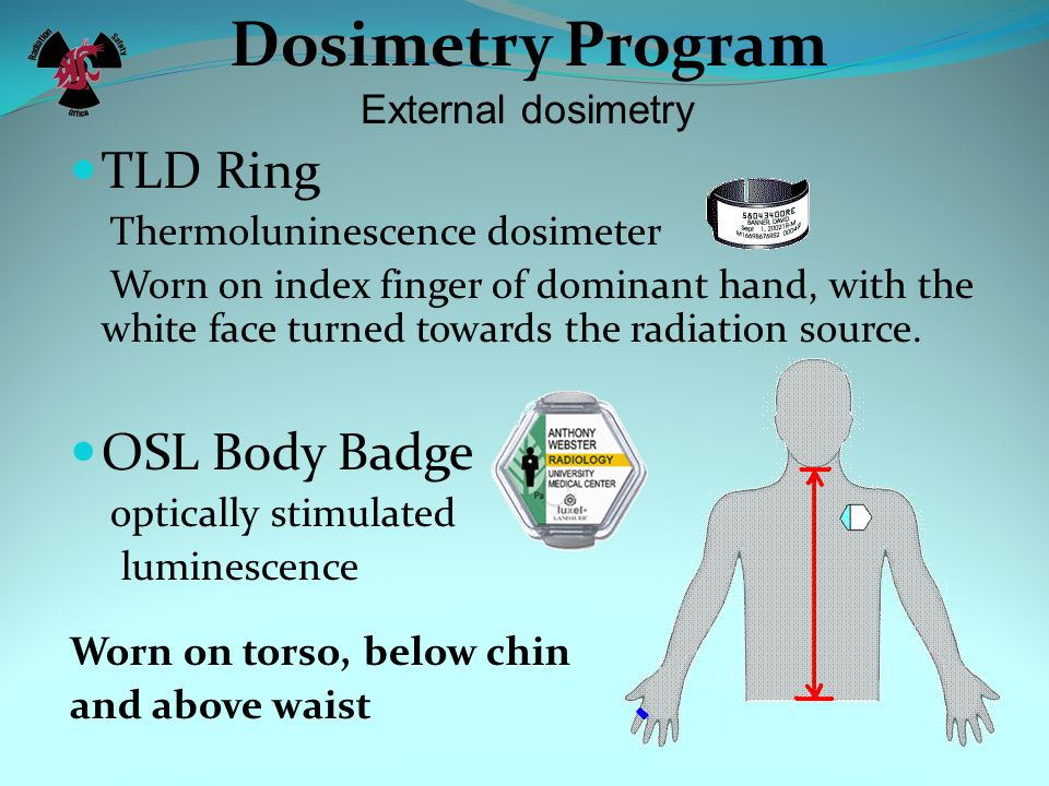 Dosimetry Program TLD Ring OSL Body Badge External dosimetry
