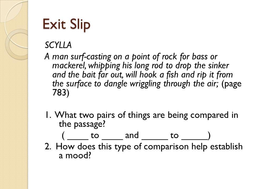 Exit Slip SCYLLA.