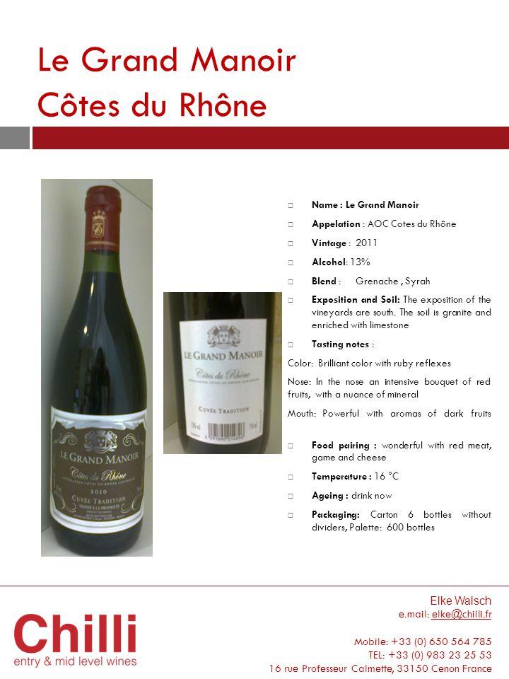 Le Grand Ma noir Côtes du Rhône