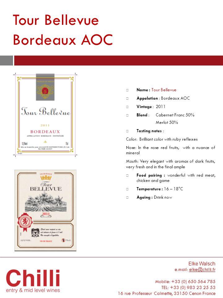 Tour Bellevue Bordeaux AOC