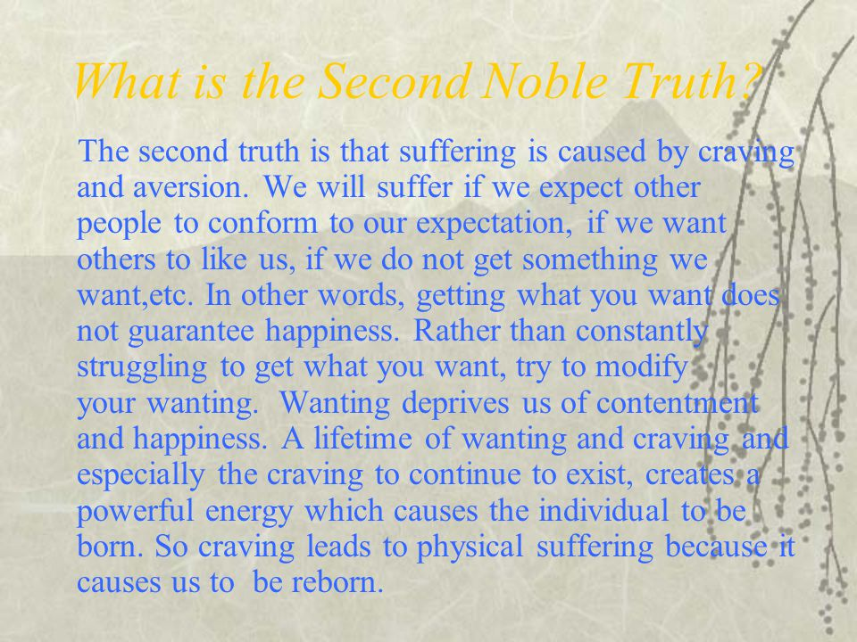 What is the Second Noble Truth