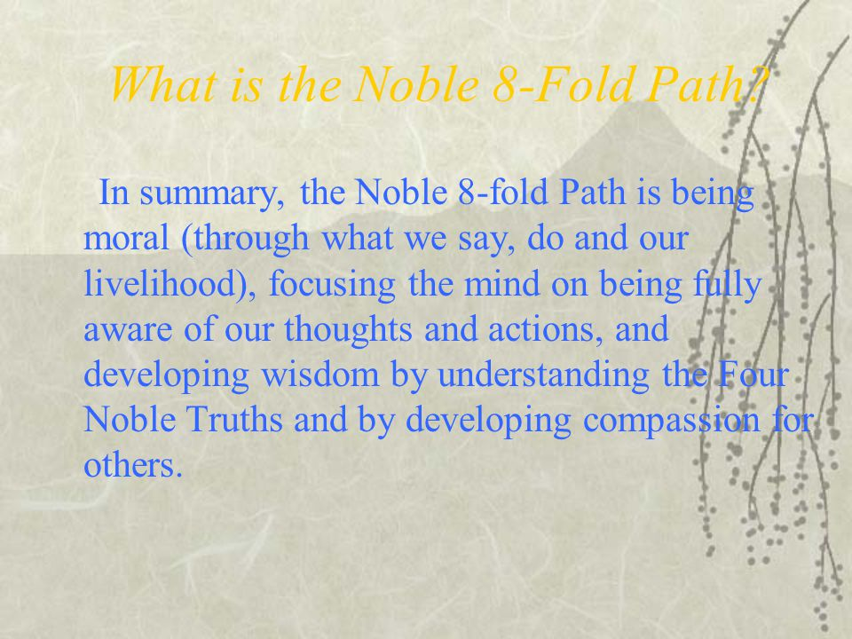 What is the Noble 8-Fold Path