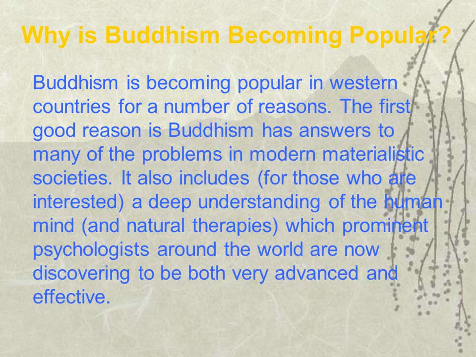 Why is Buddhism Becoming Popular