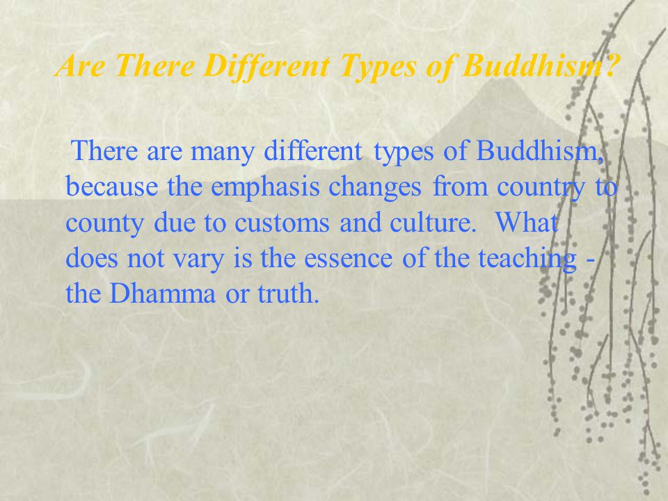 Are There Different Types of Buddhism