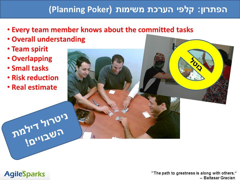ניטרול דילמת השבויים! (Planning Pokerהפתרון: קלפי הערכת משימות (
