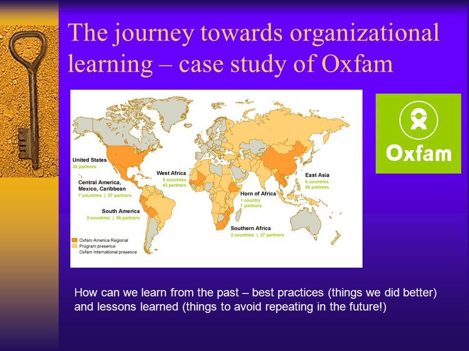 The journey towards organizational learning – case study of Oxfam