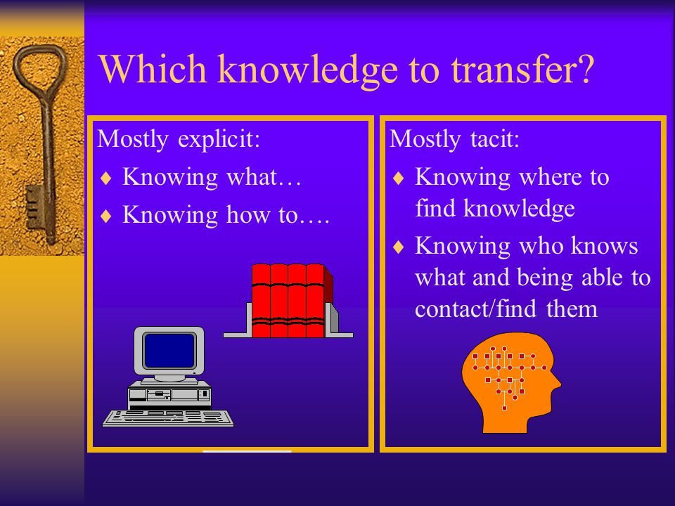 Which knowledge to transfer