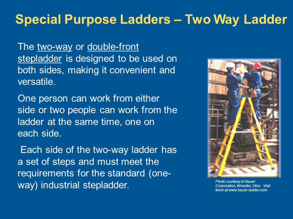 Special Purpose Ladders – Two Way Ladder