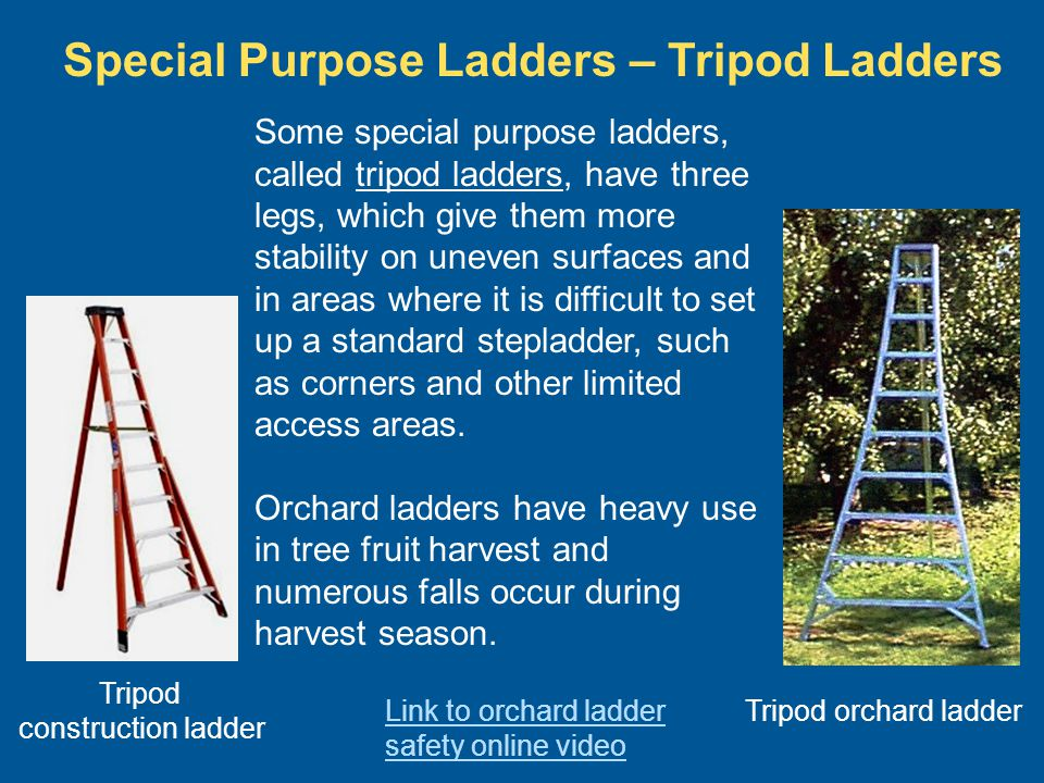 Special Purpose Ladders – Tripod Ladders