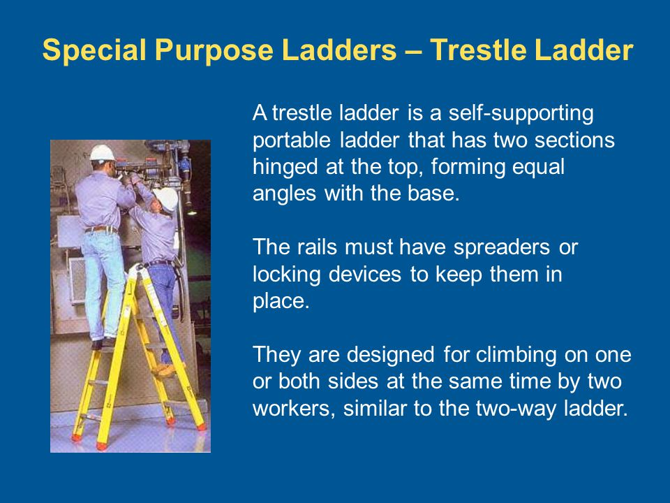 Special Purpose Ladders – Trestle Ladder