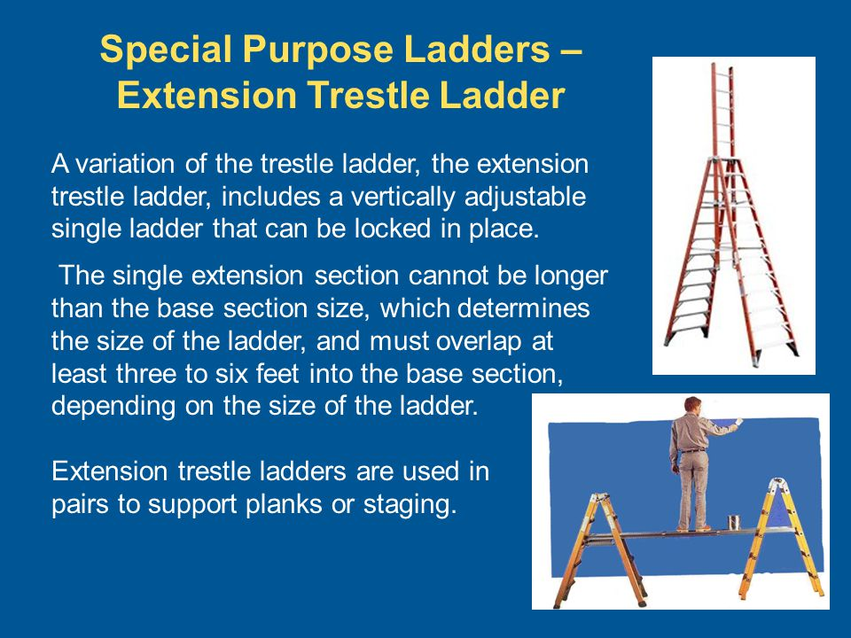 Special Purpose Ladders – Extension Trestle Ladder