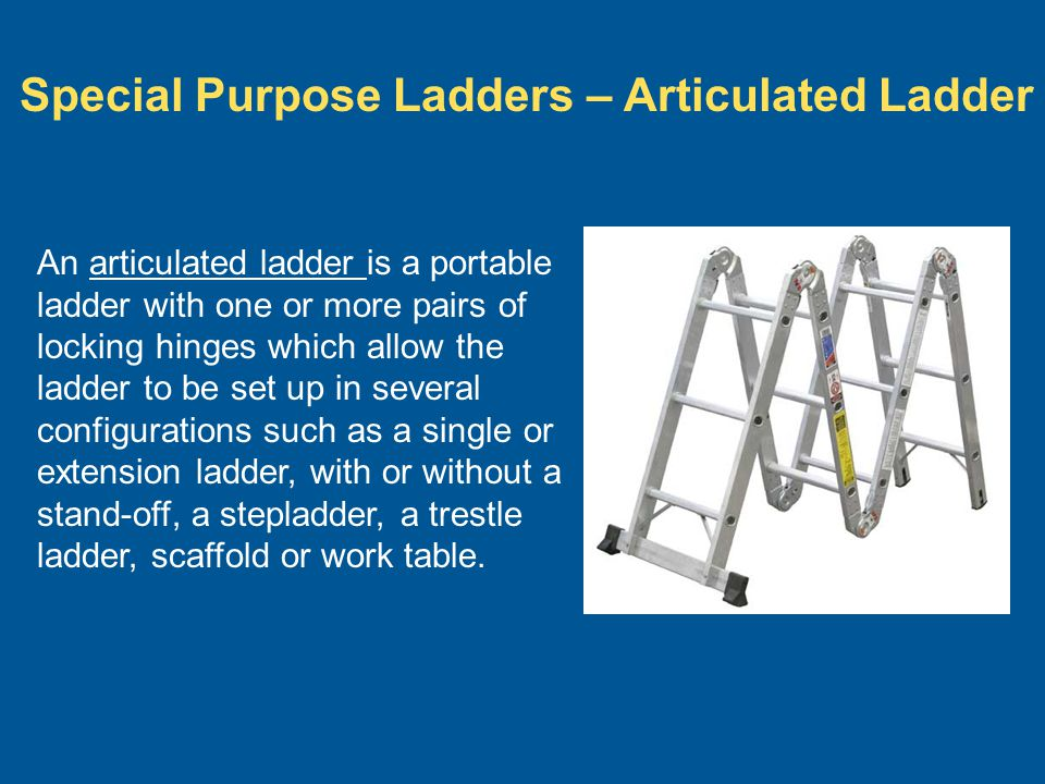 Special Purpose Ladders – Articulated Ladder