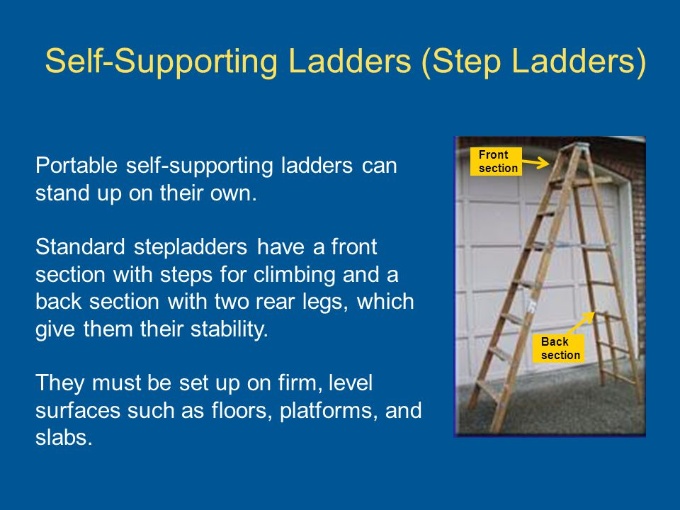 Self-Supporting Ladders (Step Ladders)