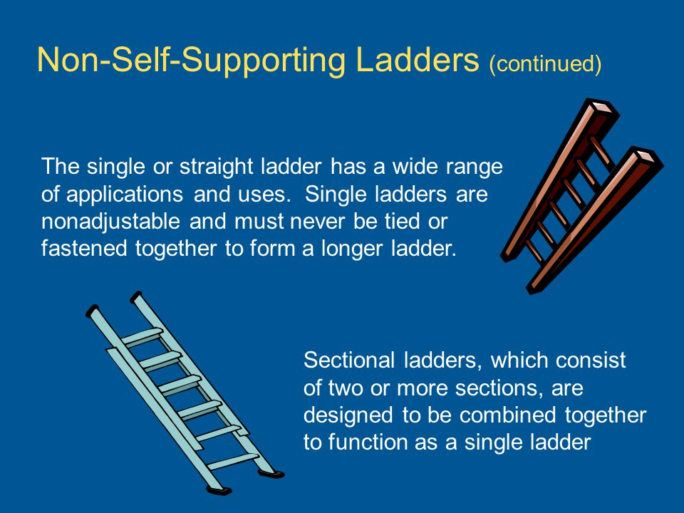 Non-Self-Supporting Ladders (continued)