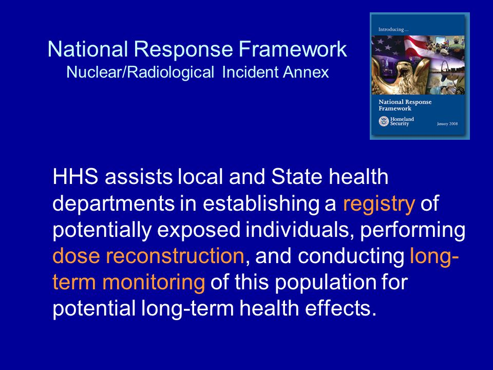National Response Framework Nuclear/Radiological Incident Annex