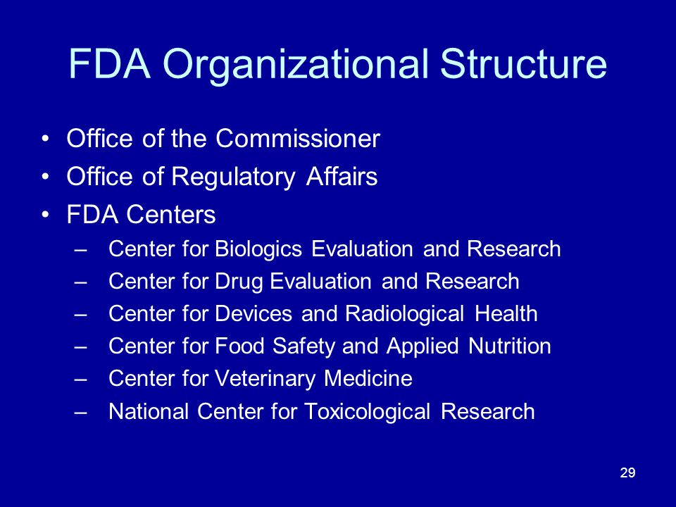 FDA Organizational Structure