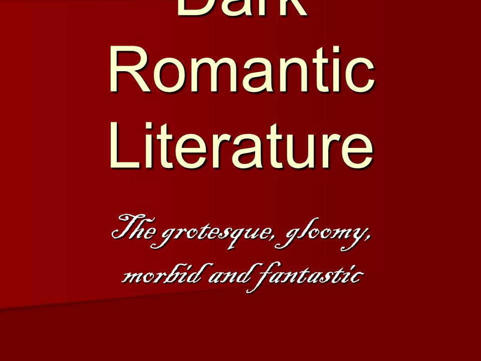 Dark Romantic Literature
